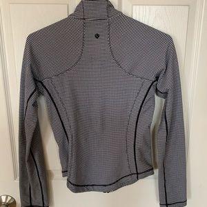 lululemon athletica Jackets & Coats - Lululemon Forme Jacket Gingham Black and White